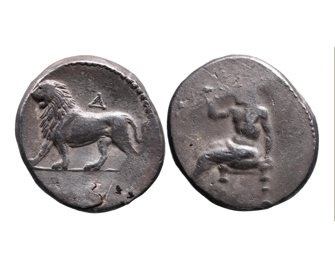Ancient Greek AR double shekel Babylonia