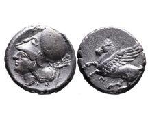 Ancient Greek AR stater Leukas