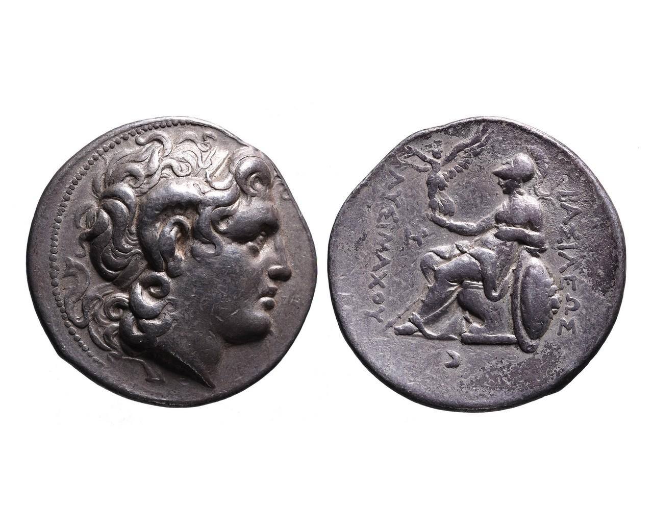 Ancient Greek AR tetradrachm Lysimachos of Thrace