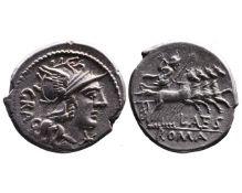 Ancient Roman Republican AR denarius