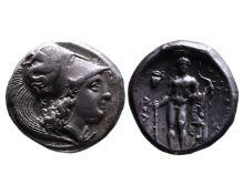 Ancient Greek AR didrachm Herakleia
