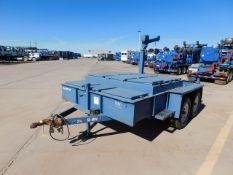 Located in YARD 2 - Odessa, TX (FUT066) (X) 1990 PERKINS T/A UTILITY TRAILER, VIN- RJT612000069,
