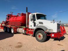 Located in YARD 1 - Midland, TX (X) 2010 MACK GU813 TRI AXLE DAY CAB ACID PUMP TRUCK, VIN-