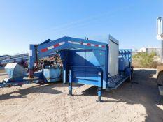 Located in YARD 2 - Odessa, TX (FUF110) (X) 2011 SAGE OIL VAC GN LUBE TRAILER, VIN-