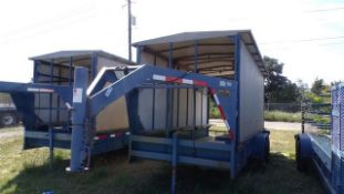 Located in YARD 19 - Wixon Valley, TX (FUF350) 2005 SHOP BUILT 7' X 16'L T/A GN COOLING TRAILER,