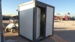 Located in YARD 1 - Midland, TX NEW 110V PORTABLE BATHROOM W/ SINK, TOLIET & SHOWER