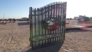 Located in YARD 1 - Midland, TX NEW 14' BI PARTING WROUGHT IRON GATE