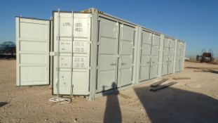 Located in YARD 1 - Midland, TX 40' H CUB SEA CONTAINER W/ (4) SIDE OPEN DOORS, (1) END DOOR