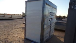 Located in YARD 1 - Midland, TX NEW 110V PORTABLE DBL STALL TOILET
