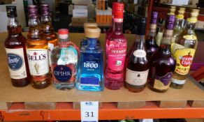 14 Bottles to Include; 3 Havana Club Rum, 70cl, 2 Courvoisier Cognac, 700ml, De Marsy Fine Cognac,