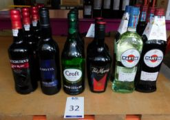 17 Bottles to Include; 4 Martini Rosso, 750ml, 2 Martini Bianco, 750ml, 2 Tia Maria, 700ml, 3