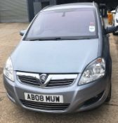 Vauxhall Zafira Diesel Estate 1.9 CDTi Elite, Registration AB08 MUW, First Registered 30th May 2008,