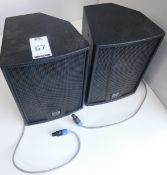 Pair Martin Blackline F8+ Speakers, s/n; 1050393 & 1040411 (Located Brentwood, See General Notes for