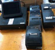 Touch Screen Epos Cash Drawer & 5 Receipt Printers (Located Brentwood, See General Notes for More