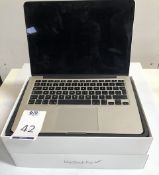 Apple MacBook Pro, 13 Inch Display, 2.7GHz, Core i5, 8GB/128GB (2015), Serial Number: