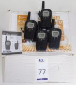 4 Cobra MicroTalk MP645VP Two-Way Radios (Located Brentwood, See General Notes for More Details)
