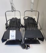 2 Selecon Acclaim Fresnel Spots with Suspension Hook Clamp & Safety Chain (Located Brentwood, See