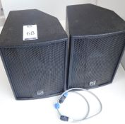 Pair Martin Blackline F8+ Speakers, s/n; 1050394 & 1050391 (Located Brentwood, See General Notes for