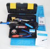 4 Tabiger Soldering Iron Kits & 4 Anti-Static Soldering Mats (All New) (Located Brentwood, See