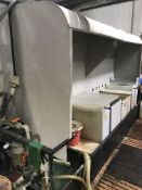 Fume Extraction Unit Including Ducting to Motor Joint (Delayed Collection by Arrangement) (