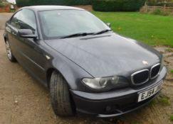 BMW 3 Series Coupe 318 Ci ES 2dr, Registration Number EJ54 JXG, First Registered 17th November 2004,