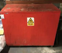 Metal Flammable Storage Container & Metal Cage (Located Northampton, See General Notes for More
