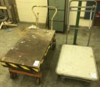Two Flatbed Trollies (Located Northampton, See General Notes for More Details)