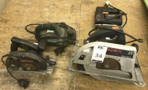 Bosch GKS85S Skill Saw, 40mm Skilsaw, Black & Decker BD531 Jigsaw & Bosch PHO16-82 Handheld
