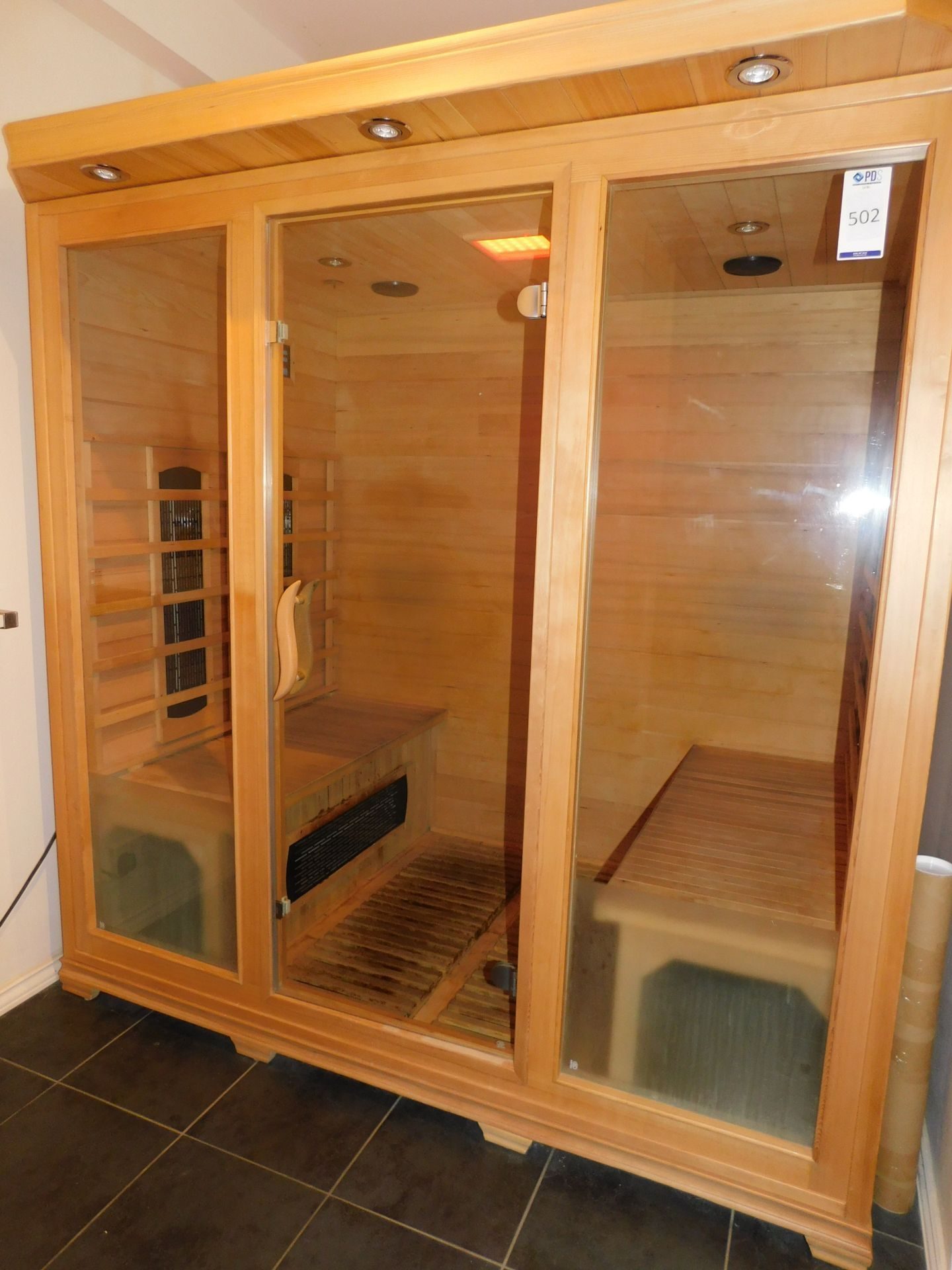 FAR Freestanding Infrared Sauna, W1.8m x H1.9m x D1.2m (Located Corby – See General Notes for - Image 4 of 7