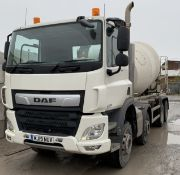 DAF CF 460 FAD 8x4 Construction with 8m3McPhee Transit Mixer, Registration, MJ19 NUV, Odome