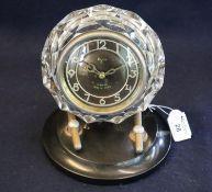 Unusual Majak Russian made (USSR) plastic and bakelite mantel clock. 21cm high approx. (B.P. 21% +