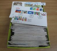 Great Britain range of first day covers in large shoebox 1970-2001 period. (B.P. 21% + VAT)