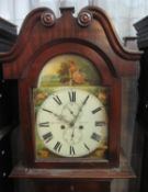 19TH CENTURY CHANNEL ISLANDS MAHOGANY 8 DAY LONGCASE CLOCK marked J. Le Gallais, Jersey, the case