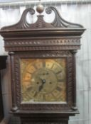 18TH CENTURY OAK 8 DAY LONGCASE CLOCK the face marked Joshua Alloway?, Taunton, the case overall