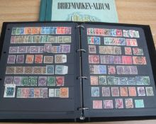 GERMANY MINT AND USED STAMP COLLECTION in black binder 1872 to 1945 and further album of mostly