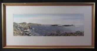 JOHN ROGERS (Welsh contemporary), 'Porthllysel St David's', signed and dated '75, watercolours. 24 x