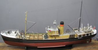 EXHIBITION QUALITY SCALE MODEL of the steam trawler 'St Nectan' registered in Hull, no: H.411,