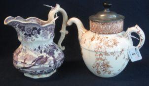 Doulton Burslem for J.J Royle of Manchester, 'Royle's patent self pouring teapot', overall