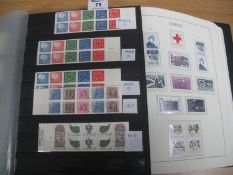 Sweden collection of mint and used stamps and booklets in Lighthouse printed album and four
