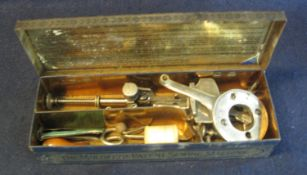 Unusual 'The Moldacot' patent sewing machine in appearing original japanned metal box,
