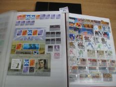 Great Britain mint and used stamp collection in three stockbooks, Queen Victoria to early 2000's,