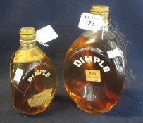 Two bottles of Haig Scotch whisky Dimple bottles .26 & 2/3rds fluid ozs . (2) (B.P. 21% + VAT) The