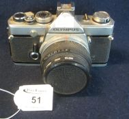 Olympus OM-1 35mm SLR camera with Olumpus 50mm lens. (B.P. 21% + VAT) Sold as seen, not tested.