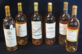 Six bottles of French Sauternes white wine to include; Chateau La Tour Blanche Premier Cru 2005,