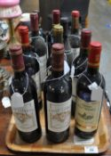12 bottles of assorted red wine to include; Roe Flamboyant Fitou 2005, Chateau Lilian Ladouys