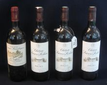 Three bottles of Chateau Prieure-Lischine Grand Crux Classe Margaux red wine 2000, together with one