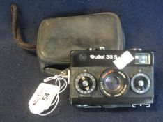 Rollei 35S compact camera in leather case. (B.P. 21% + VAT) Sold as seen, not tested.
