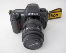 Nikon F100 35mm film Camera Body together with a Nikon Nikkor 35-105mm F/3.5-4.5 Macro Late