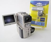 A SONY Digital Handycam model no DCR-PC1E Video camera recorder together with a SONY stereo