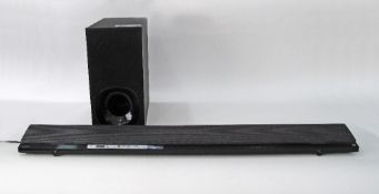 SONY Soundbar with Bluetooth and wireless Active SubWoofer, HT - NT5. The soundbar L108cm. The